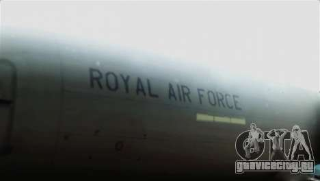 Boeing 737-800 Royal Air Force для GTA San Andreas вид сзади