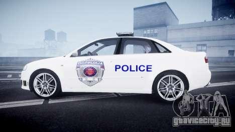 Audi RS4 Serbian Police [ELS] для GTA 4 вид слева