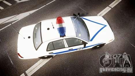 Ford Crown Victoria Indiana State Police [ELS] для GTA 4 вид справа