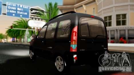 Renault Kangoo Sportway для GTA San Andreas вид сзади слева