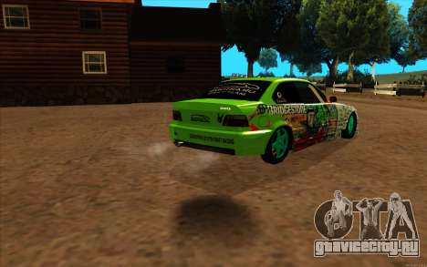 BMW 320i для GTA San Andreas вид сзади слева