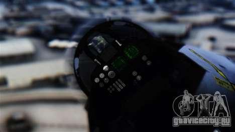 F-14D Super Tomcat Halloween Pumpkin для GTA San Andreas вид сзади