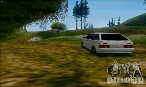 ВАЗ 2114 Аля Дубай для GTA San Andreas вид сзади слева