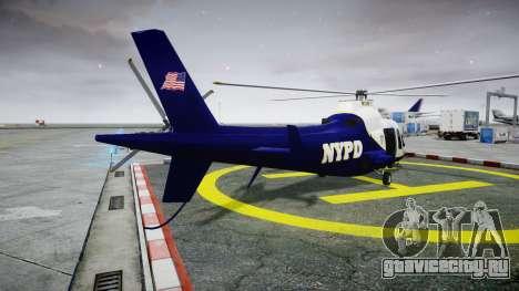 Buckingham Swift NYPD для GTA 4 вид сзади слева