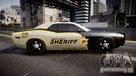 Dodge Challenger MCSO [ELS] для GTA 4 вид слева
