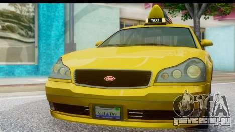New Taxi для GTA San Andreas вид сзади слева