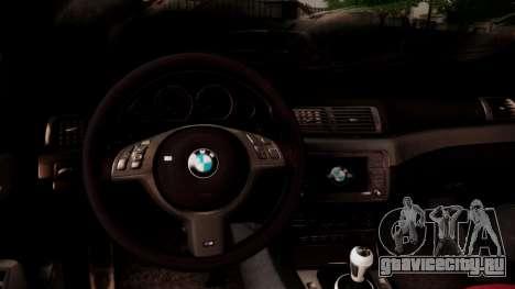 BMW M3 E46 v2 для GTA San Andreas вид сверху