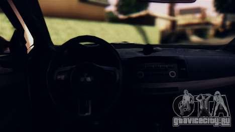 Mitsubishi Lancer Evo X 2011 Rally Bohemia для GTA San Andreas вид изнутри