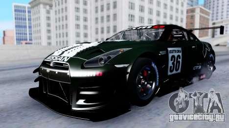 Nissan GT-R (R35) GT3 2012 PJ2 для GTA San Andreas вид сбоку