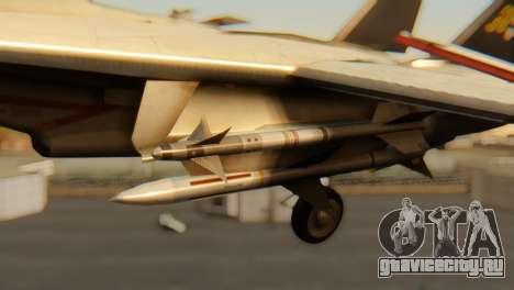 F-14A Tomcat VF-202 Superheats для GTA San Andreas вид справа