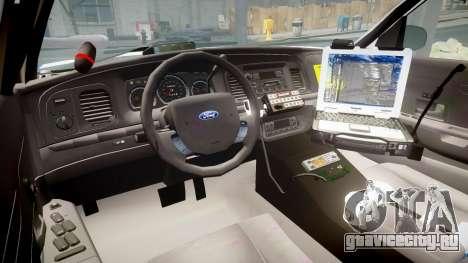 Ford Crown Victoria Indiana State Police [ELS] для GTA 4 вид сзади