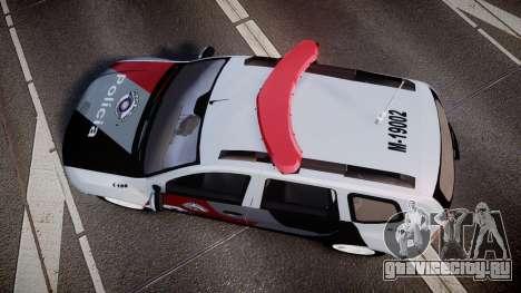 Lada Duster 2015 PMESP [ELS] для GTA 4 вид справа