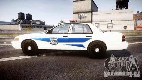 Ford Crown Victoria Indiana State Police [ELS] для GTA 4 вид слева