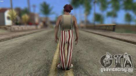 Clown Skin from Left 4 Dead 2 для GTA San Andreas второй скриншот