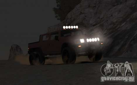 Mammoth Patriot 6x6 для GTA 4 вид справа