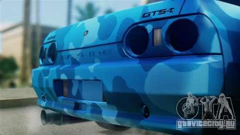 Nissan Skyline R32 Camo Drift для GTA San Andreas вид сзади