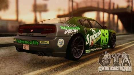 GTA 5 Bravado Buffalo Sprunk IVF для GTA San Andreas вид слева