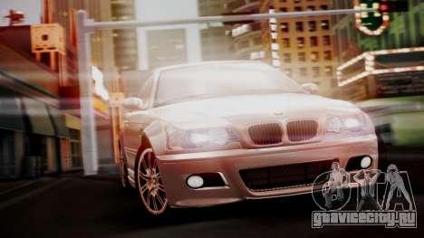 BMW M3 E46 v2 для GTA San Andreas вид сзади