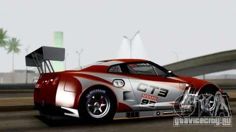 Nissan GT-R (R35) GT3 2012 PJ3 для GTA San Andreas вид слева