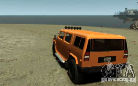 Mammoth Patriot Pickup для GTA 4 вид сзади