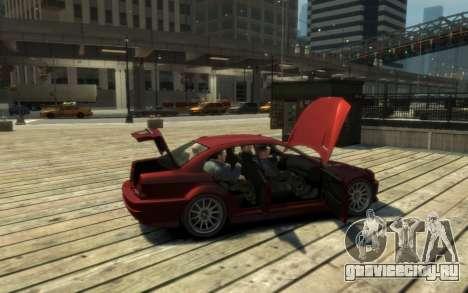 Übermacht Sentinel (XS) 4-door для GTA 4 вид изнутри