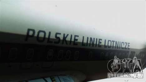 Boeing 737-800 Polskie Linie Lotnicze LOT для GTA San Andreas вид сзади