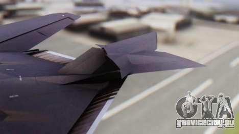 Lockheed F-117 Nighthawk ACAH для GTA San Andreas вид сзади слева
