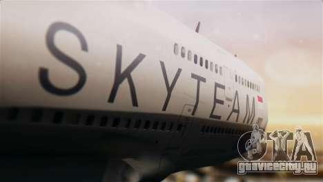 Boeing 747-400 Garuda Indonesia Sky Team для GTA San Andreas вид сзади
