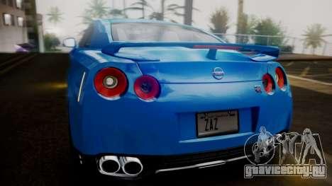 Nissan GT-R 2015 для GTA San Andreas вид снизу