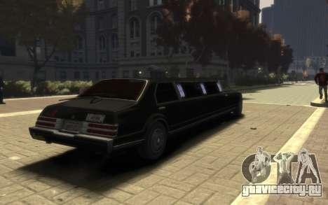 Albany Esperanto Limousine для GTA 4 вид слева