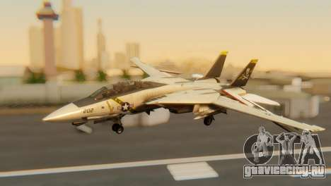 F-14A Tomcat VF-202 Superheats для GTA San Andreas вид изнутри