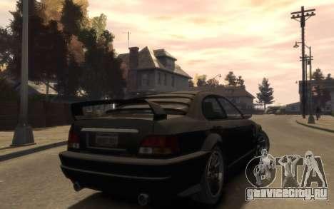 Übermacht Sentinel (XS) 4-door для GTA 4 вид сзади