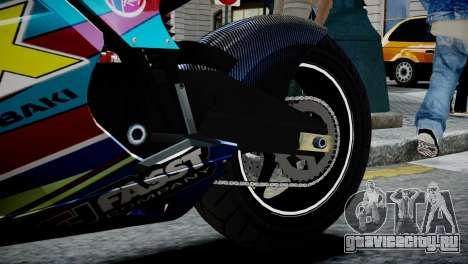 Bike Bati 2 HD Skin 2 для GTA 4 вид сзади
