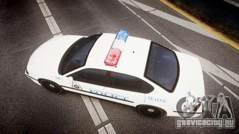 Chevrolet Impala Metropolitan Police [ELS] Traf для GTA 4 вид справа