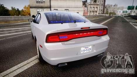 Dodge Charger Traffic Patrol Unit [ELS] bl для GTA 4 вид сзади слева