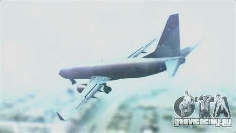 Boeing 737-800 Royal Air Force для GTA San Andreas вид слева