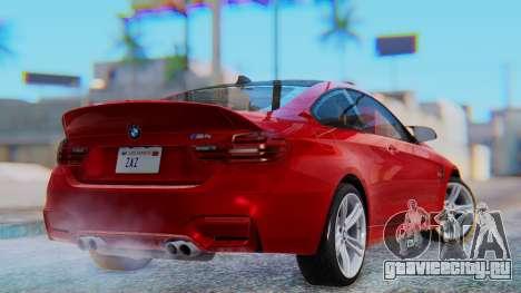 BMW M4 2015 HQLM для GTA San Andreas вид слева