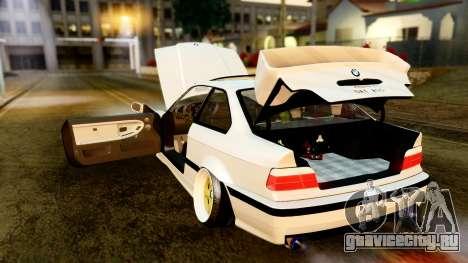 BMW M3 E36 Stance для GTA San Andreas вид изнутри