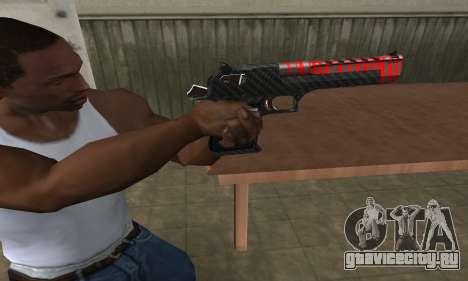 Red Tiger Deagle для GTA San Andreas