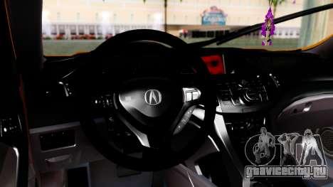 Acura TSX Hellaflush 2010 для GTA San Andreas вид справа