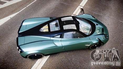 Pagani Huayra для GTA 4 вид справа