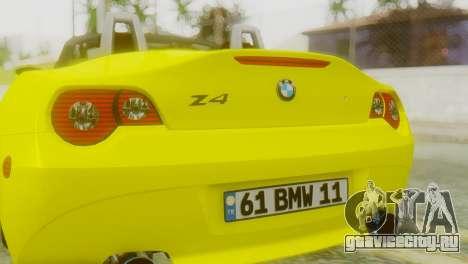 BMW Z4 Ens Yapım для GTA San Andreas вид сзади