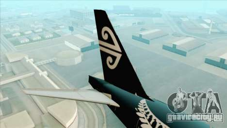 B777-200ER Air New Zealand Black Tail Livery для GTA San Andreas вид сзади слева