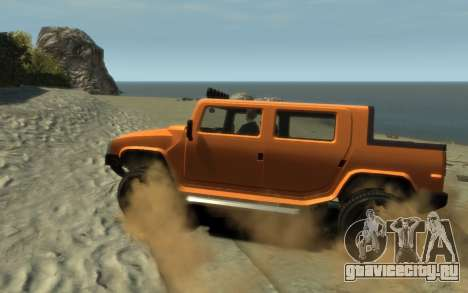 Mammoth Patriot Pickup для GTA 4 вид слева