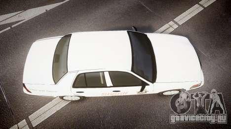 Ford Crown Victoria Sacramento Sheriff [ELS] для GTA 4 вид справа