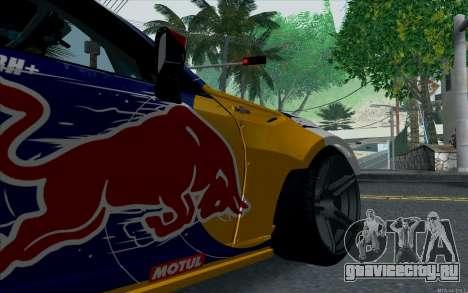 Toyota GT86 Red Bull для GTA San Andreas вид сзади