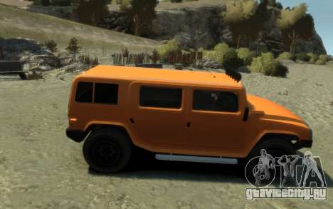 Mammoth Patriot Pickup для GTA 4 вид справа