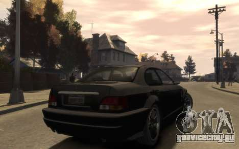 Übermacht Sentinel (XS) 4-door для GTA 4 вид справа