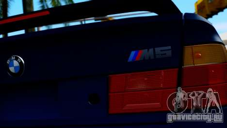 BMW M5 E34 Gradient для GTA San Andreas вид сзади