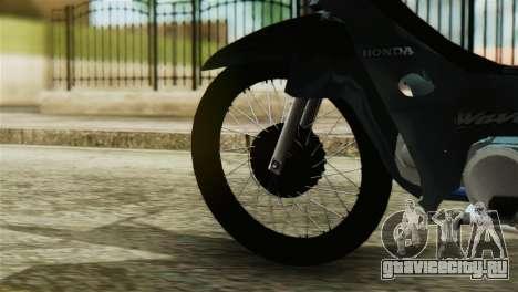 Honda Wave Stunt для GTA San Andreas вид сзади слева